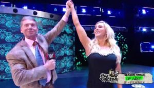 Vince McMahon y Charlotte Flaie